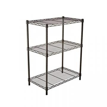 Stylish Plastic Powder Coating Commercial Wire Shelving