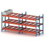 Warehouse Steel Roller Push Back Self Slide Rack