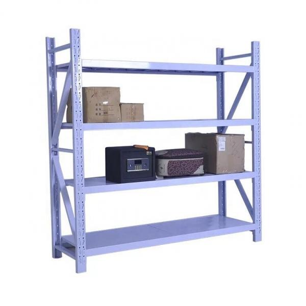 Two-Sided Floor Standing Metal Retail Merchandising Units with Hooks and Shelves #3 image