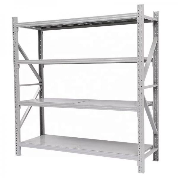 Two-Sided Floor Standing Metal Retail Merchandising Units with Hooks and Shelves #1 image
