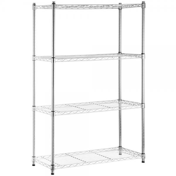 4 Tiers Adjustable Commercial Household Chrome Wire Storage Shelving #2 image