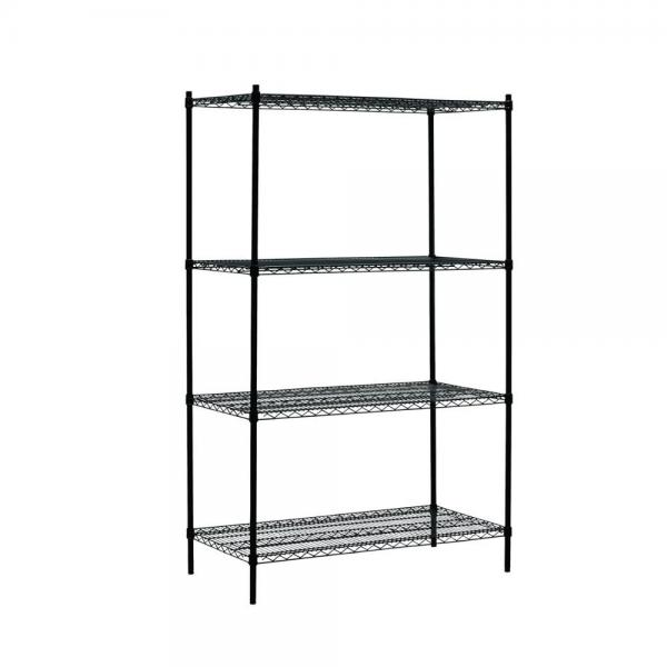 4 Tiers Adjustable Commercial Household Chrome Wire Storage Shelving #1 image