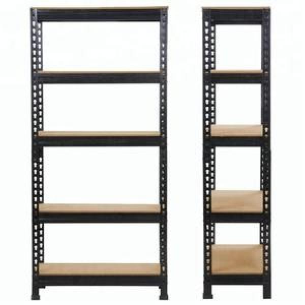 5 Tier Garage Shelving Wire Shelving Unit, Storage Rack Garage Shelf Heavy Duty Metal Shelves, Black #2 image