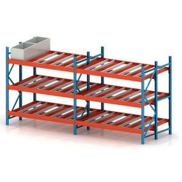 Warehouse Steel Pallet Carton Storage Gravity Flow Rack with Rollers #1 image