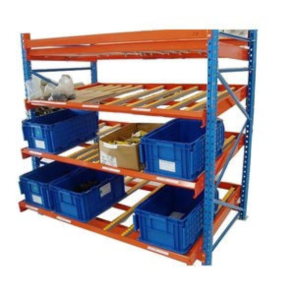 Warehouse Industrial Storage Steel Pallet Carton Gravity Flow Rack with Rollers #1 image