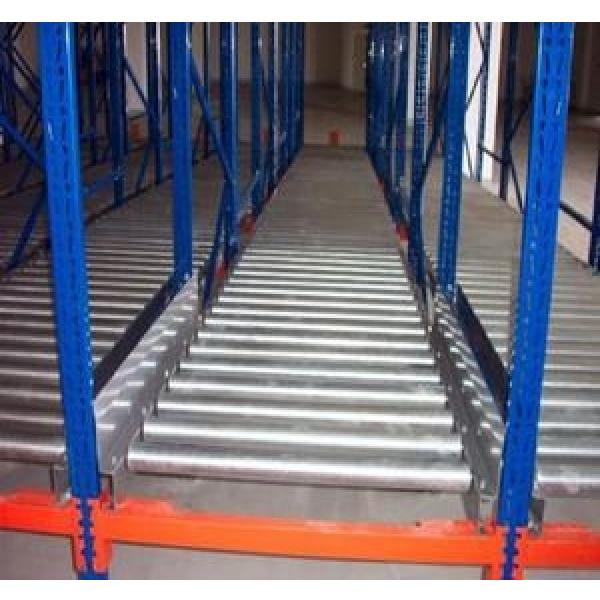 Warehouse Industrial Storage Steel Pallet Carton Gravity Flow Rack with Rollers #2 image