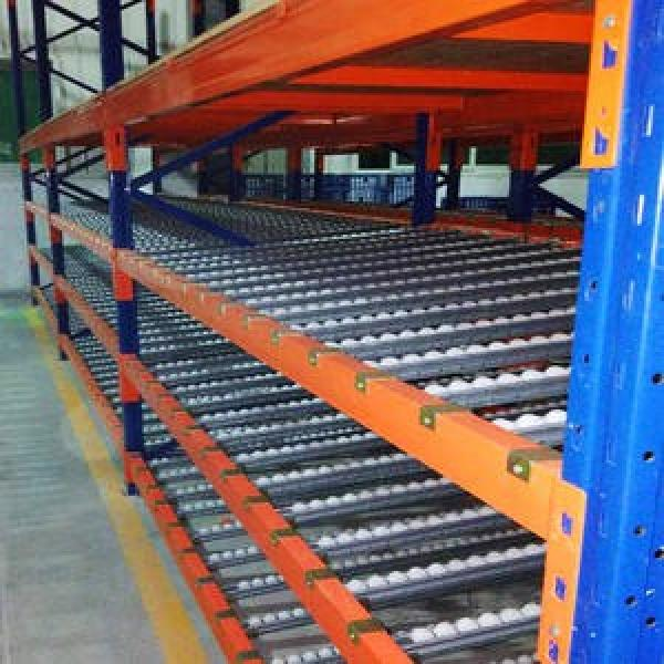 Warehouse Industrial Storage Steel Pallet Carton Gravity Flow Rack with Rollers #3 image