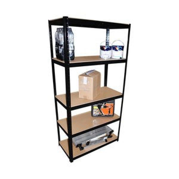 5 Tier Garage Shelving Wire Shelving Unit, Storage Rack Garage Shelf Heavy Duty Metal Shelves, Black #3 image